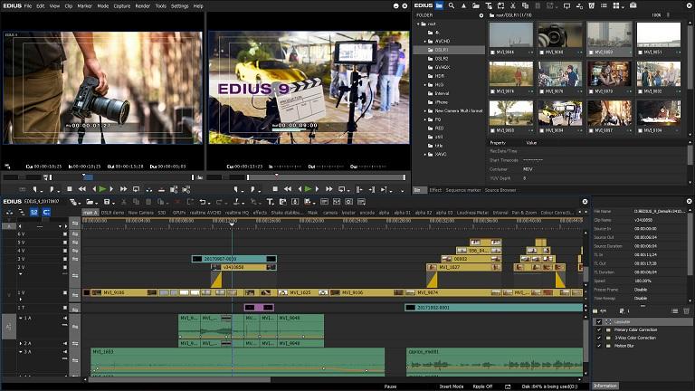 EDIUS Pro画面